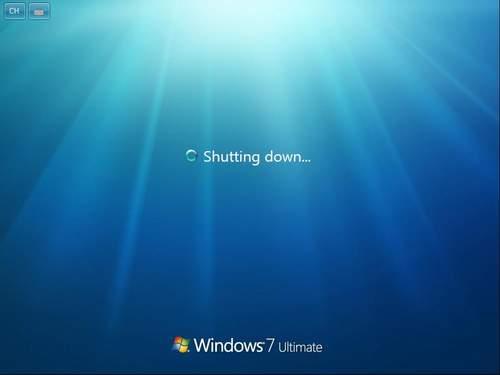 windows 7关机画面