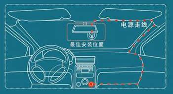 行车记录仪的安装